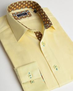 Yellow italian shirt
