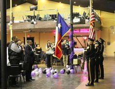 Odessa Police Color Guard present colors while Deputy Chief Blanco leads us in the Pledge of Allegiance.