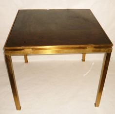 Table Basse Design 70 39 S Designer Guy Lef Vre Maison Jansen Plateau En Verre Fum Pi Tement