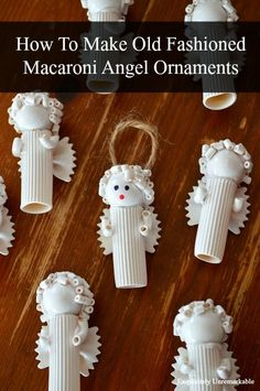 Learn how to make your very own old fashioned macaroni angel ornaments for your vintage Christmas tree. Super easy and so charming. Come see how...