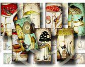 'Suppliers of Dreams' curated by Stephanie Lindsay. Jewelry Supplies - Whimsical Bird and Mushrooms - 1 x 2 Domino Tiles - digital collage sheet Paper Bead Jewelry, Paper Beads, Domino Crafts, Domino Jewelry, Mushroom Art, Scrapbook Embellishments, Bird Design, Collage Sheet, Digital Collage