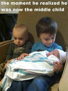 Hehe. This is why I'm resistant to have a third child, I don't want Deegan to have that look.