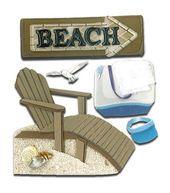 Jolee's Boutique Dimensional Sticker-Beach House