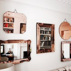 Rose gold mirrors