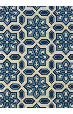 :: Oriental Weavers Sphinx Caspian Outdoor 969W6 Ivory Rug ::
