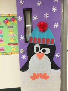 Winter Classroom Door decoration #winter #penguins #classroomdoor