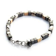 Aviv Onyx and Gold Bead Bracelet