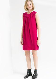 Prosta sukienka z teksturą - Mango