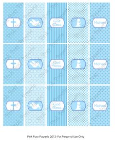 Printable First Communion Boy Mini Candy Bar Wrappers. $4.00, via Etsy.