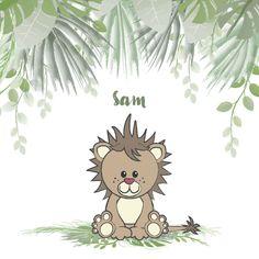 Trendy geboortekaartje in een botanische stijl met een illustratie van een stoer, schattig leeuwtje in de jungle. Dit geboortekaartje is verkrijgbaar bij #kaartje2go voor €1,99 Baby Hacks, Baby Tips, Pikachu, Fictional Characters, Products, Paper, Fantasy Characters, Gadget