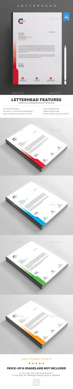 Letterhead  — PSD Template #simple #corporate identity • Download ➝ https://graphicriver.net/item/letterhead/18396962?ref=pxcr