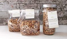 A Homemade Hostess Gift: Breakfast-In-Bed Granola Cereal Packaging, Dessert Packaging, Glass Packaging, Cookie Packaging, Food Packaging, Packaging Design, Food 52, Pots, French Pastries