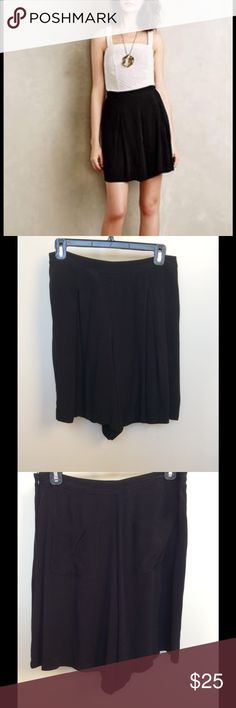 Anthropologie Black Skorts, Size 4 Sunday in Brooklyn/Anthropologie black skorts in size 4.  Excellent used condition.  Two pockets in the back, side zip closure. Anthropologie Shorts Skorts