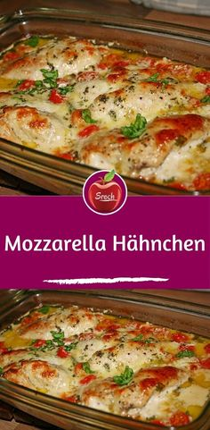 Mozzarella chicken- Ingredients 4 chicken breast fillet salt and pepper 1 tablespoon of oil 250 g cocktail tomatoes pot of basil - Berry Smoothie Recipe, Easy Smoothie Recipes, Easy Smoothies, Snack Recipes, Atkins, Homemade Frappuccino, Chicken Breast Fillet, Healthy Snacks, Healthy Recipes