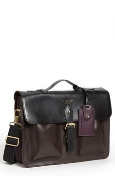 Ted Baker London Leather Satchel available at #Nordstrom
