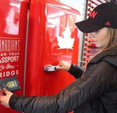 """Who needs an Olympic medal when you've got free beer, eh? Thanks to a """"beer fridge,"""" the Canadian Olympic House in Sochi is where the party's at. The alcohol vending machine, created by Molson Canadian, only opens by scanning a Canadian passport. Canadian Beer, I Am Canadian, Canadian Humour, Canadian Things, Street Marketing, Beer Machine, Canadian Passport, Meanwhile In Canada, Beer Fridge"""