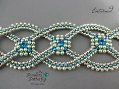 Entwined Bracelet Tutorial  Layered Right Angle Weave and
