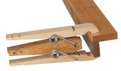 Double-Decker Mini Clamp Here's a great little clamp for those light-duty hobby or craft jobs. Start with two ordinary clothespins, then modify and combine them as shown above. You now have a clamp with triple the capacity of a single clothespin. Alan Dooley My Take Who thinks of this stuff? Well, obviously, Alan Dooley did, but I'll wager that leading up to his discovery, he must have made those clothespin …