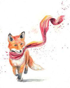 Art Videos For Kids, Art For Kids, Little Prince Fox, Watercolor Fox, Easy Animals, Disney Home Decor, Kids Artwork, Fox Art, Red Fox