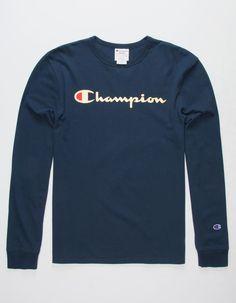 57bcae6d3 CHAMPION Script Foil Navy Mens T-Shirt - NAVY - 324716210