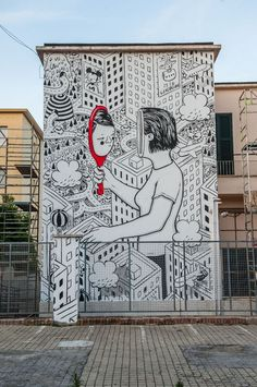 Millo creates a new piece for Memorie Urbane in Gaeta, Italy--Tanks that Get Around is an online store offering a selection of funny travel clothes for world explorers. Check out for funny travel tank tops and more awesome street art from around the world Street Art Banksy, Murals Street Art, 3d Street Art, Street Art Graffiti, Street Art News, Urban Street Art, Graffiti Murals, Best Street Art, Amazing Street Art