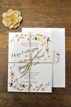 Flower Garden: Wedding Invitation