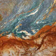 Blue-Louise granite bar with stained cement in the rusty-brown hues