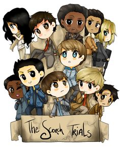 I finally did it ! After weeks of ' I wanna do a new design for The Scorch Trials w/ chibiiiiis ' I DID IT ! Into the Scorch Maze Runner Thomas, Newt Maze Runner, Maze Runner Funny, Maze Runner Movie, Aris Maze Runner, Maze Runner Trilogy, Maze Runner Series, The Scorch Trials, Thomas Brodie Sangster