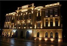 Brasil. PE, Recife. Palácio do Campo das Princesas. Praça da República. Ago2014-noite. Foto: Juliana Neri.