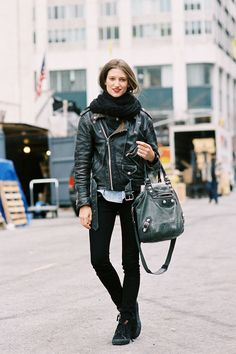 Michele Ouellet, after J.Crew of the blog #Kisser with that unbeatable Balenciaga and winning moto look all along #VannessaJackman