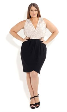 Simple and Chic - this is the first plus model I have seen on Pinterest