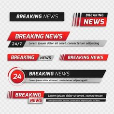 Breaking news banners Free Vector Youtube Banner Backgrounds, Youtube Banners, Event Template, Banner Template, Red And Black Background, Violet Background, Speed Logo, Pink Live, Live Television