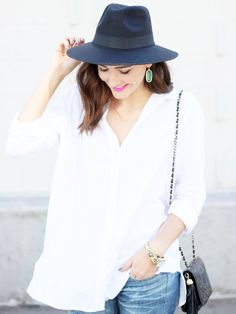 Simple Blouse + Dainty Jewels — With A City Dream