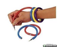 bracelet pens. I think they might have been scented?   Childhood toys and games from the 80s : theCHIVE
