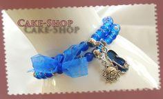 Bracelet double 6mm bleu c est été