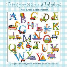 Hey, I found this really awesome Etsy listing at http://www.etsy.com/listing/157257666/alphabet-transportation-sampler