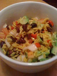 Black Bean, Avocado and Yellow Rice Salad