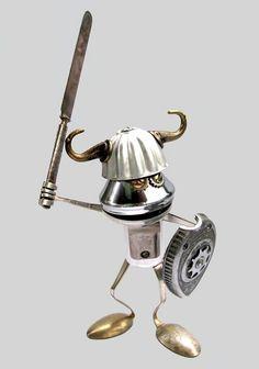 Foto de robots creados con el reciclaje de desechos caseros | Saber de fotografía es facilisimo.com