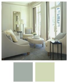 Raindance and Sweet Caroline look like a #color match in Barbara Barry's designs. So soft, like watercolors.