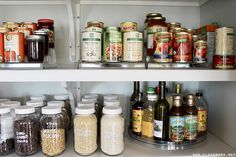 Mason jars are the perfect storage option for dried goods and pantry items. Use a white paint marker for easy IDing.