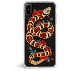 Strike Embroidered iPhone X Case (£26) ❤ liked on Polyvore featuring accessories, tech accessories, phone, fillers, iphone cases, iphone cover case, embroidered iphone case and apple iphone case