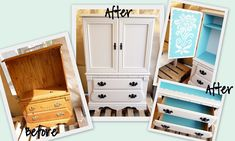 This blog has the cutest re-vamped furniture tutorials