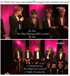 Jin is very hot! BTS on JBTV