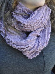 lady like and lovely lavandar ruffle infinity scarf!