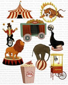 Vintage Circus Clipart