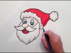 Slikovni rezultat za simple santa claus drawing step by step