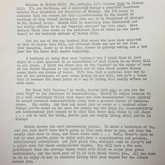In a letter from the administrator of Bishop Hall, a women's honor dorm, the privilege of having a single room with a key is outlined. This letter provides a significant contrast to the university policies to come later in the 70s. (Image cropped from MU Archvies) 8/11/1967 #MiamiUniversity #MUArchives #OxfordOH