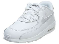 Nike Air Max 90 Leather Td Toddler 724823-100 White Shoes Sneakers Baby Size 8