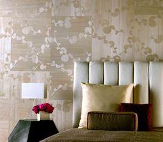 Maya Romanoff's Ajiro Vineyard is a bold graphic with an organic pattern