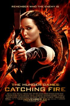 Jennifer Lawrence about to shoot an arrow in fierce new The Hunger Games: Catching Fire poster